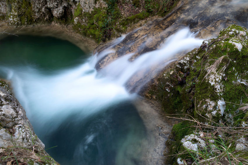 Pozza del Diavolo waterfall, in the municipality of Monte San Giovanni in Sabina, Italy. Waterfall, long exposure. Beauty In Nature Blurred Motion Day Flowing Water Forest Idyllic Long Exposure Motion Mountain Nature No People Outdoors Power In Nature Pozza Del Diavolo Rapid River Rock - Object Scenics Tranquil Scene Tranquility Travel Destinations Tree Water Waterfall