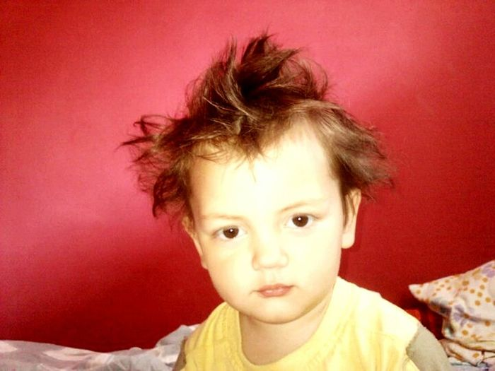 Hello World Feel The Journey Red Wall Red Color Cute Baby Hairstyle Hair Up Nice Eyes I Love It Children Lifestyles