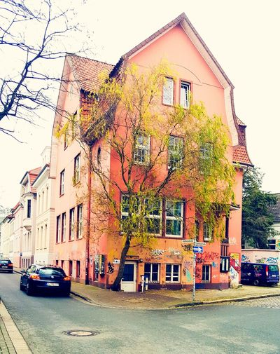 German Architecture Architecture_collection Graffiti Urbanphotography Fotography Outdoors Nopeople Streetphotography Outside Public City Object Nature Urban Germany Colorful Foto Color Colors Day Tree Oldhouse Retro Street