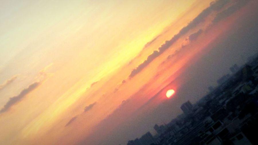 Sunset, Sundown, Down in Bangkok Horizon, Sun,clound&sky, Perspectives, Cityscape, Getting In Spired.