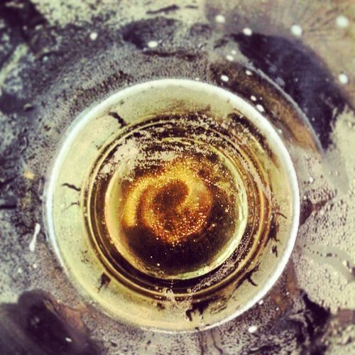 Reflections at the bottom of the barrel. Saturday Weekend Lager Liquidlunch pint relax refresh discover enjoyyourself