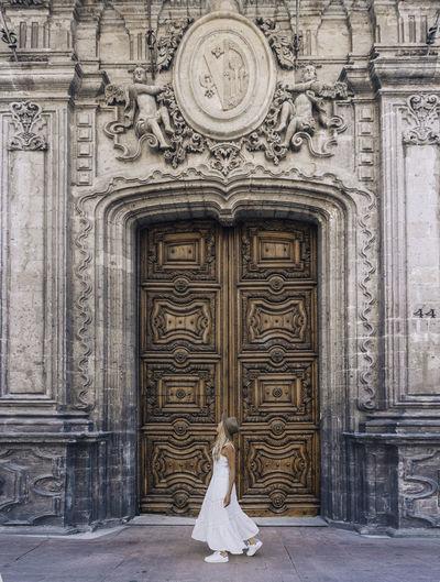 Entrance of door of building