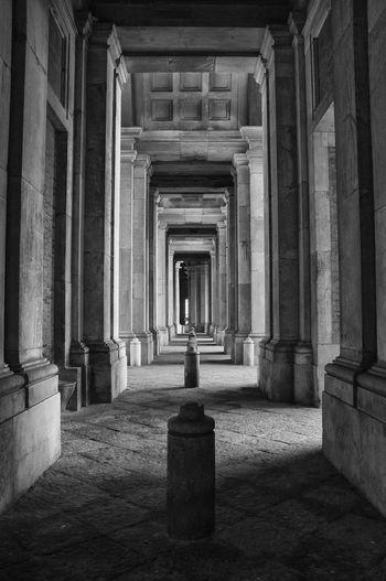 Ancient Arcade Architectural Column Architecture Building Built Structure Colonnade Corridor Direction History In A Row Reggia Reggia Di Caserta The Past The Way Forward Travel Destinations