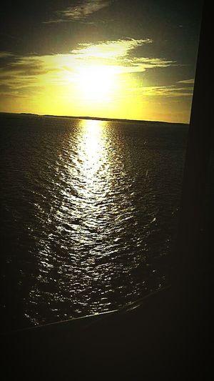 Night sailing.