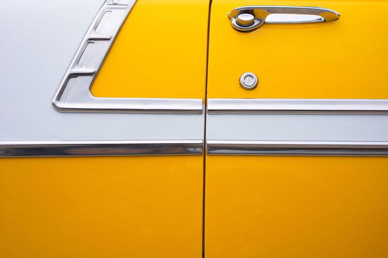 Full Frame Shot Of Yellow Car