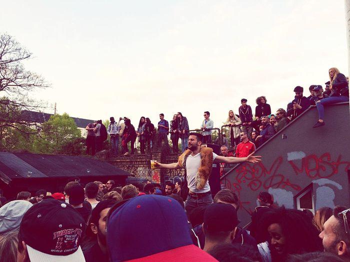 People enjoying in stadium