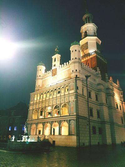 Poznań Stary Rynek Poznan Night Ratusz