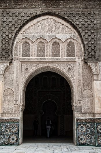 Entrance of historic building