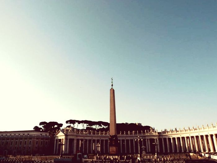 Architecture Discovering Summer Traveling Vatican Vatican Obelisk Obelisk Sky Color Square Light