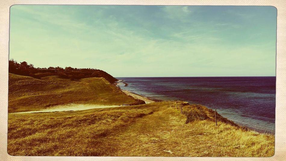 Beautiful view at an danish beach Gilleleje Denmark Beach