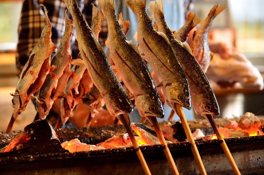 塩焼き Japanese Culture Japanese Style Japanese Food Salt Gourmet Gourmet Food 焼き魚 Fish EyeEm Selects Food Food And Drink Freshness Seafood Focus On Foreground Close-up