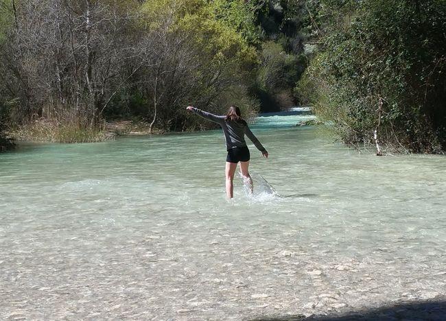 No actual filter Friend Travel Water Lake Girl In Water SPAIN Alquézar Sierra Da Guera