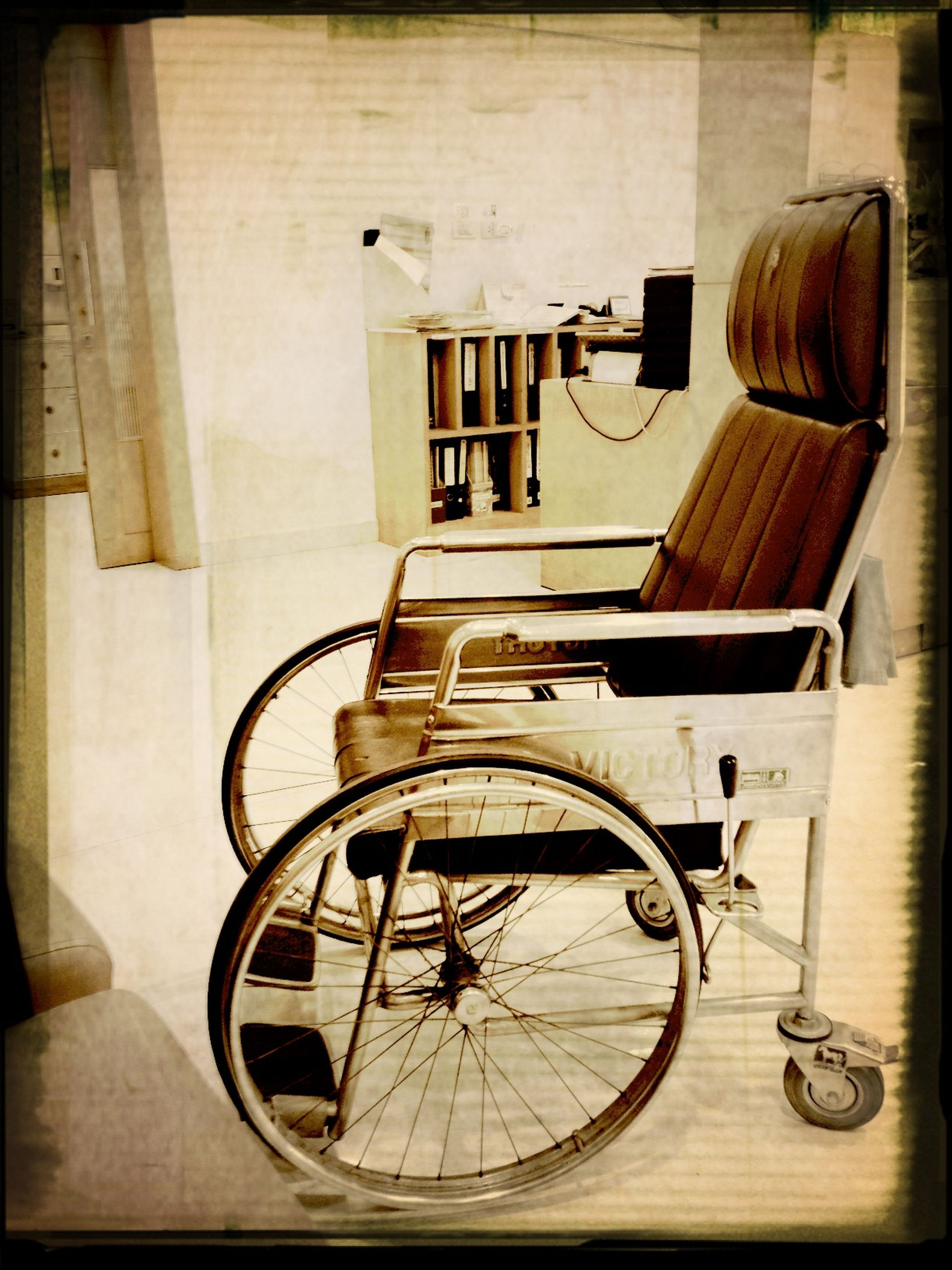 indoors, transfer print, table, architecture, built structure, auto post production filter, chair, absence, home interior, wood - material, house, no people, empty, old-fashioned, building exterior, old, wall - building feature, still life, day, retro styled