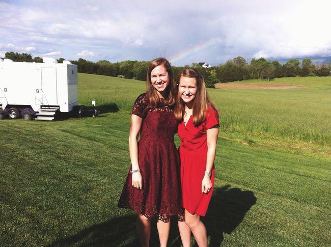Favorite things: Frances, rainbows, luxury portapotties, and weddings Hehe Ido Enjoying Life Pretty Reddress Sisters