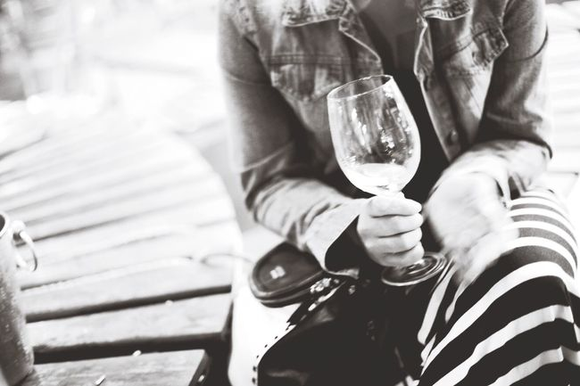 Wine Not Midsection Real People Holding Wineglass Alcohol Drink Wine Men Women Human Hand Outdoors Human Body Part Adult Two People Well-dressed Day Close-up Adults Only People