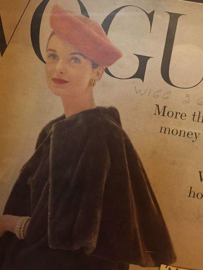 Vogue Magazine From 1950's Vintage Fashion