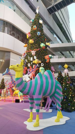 Multi colored christmas tree