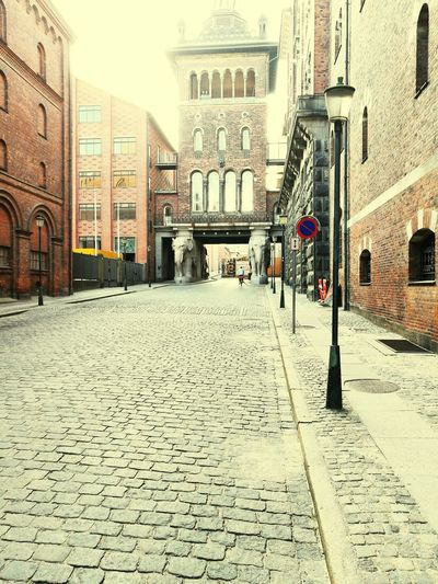 The famous elephants at the Carlsberg Breweries in Copenhagen Architecture Building Exterior Built Structure Religion Street Spirituality Church Place Of Worship Road The Way Forward Clock Tower History City Surface Level Travel Destinations Outdoors Culture Day Footpath