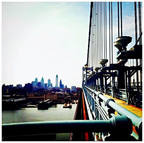City Architecture Suspension Bridge Bridge Engineering Skyscraper Skyline No People Diminishing Perspective Ben Franklin Bridge Philadelphia Philly Urban
