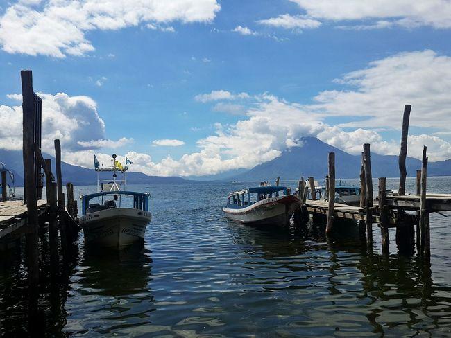 Volcanoes Water Transportation Nautical Vessel Sky Outdoors Harbor Panajachel  Guatemala Mode Of Transport No People Day 2016 Travel Hello World Merhaba Hola! Phtography Boat