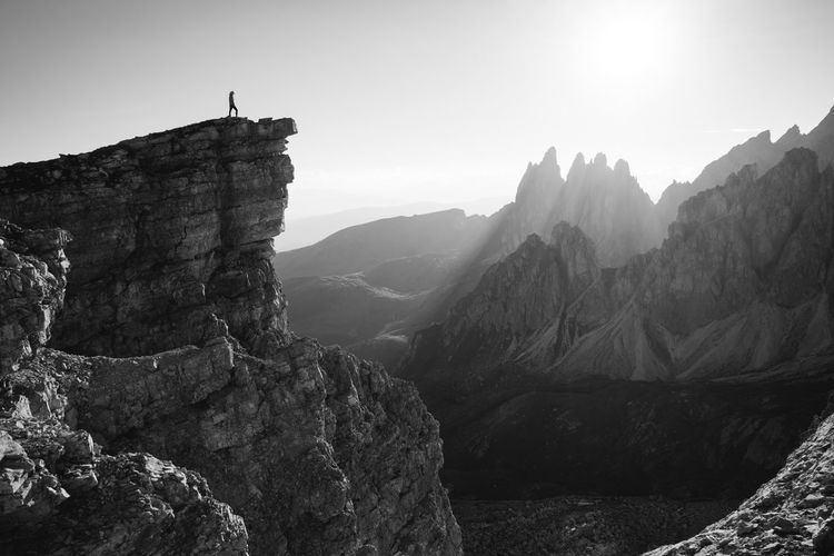 Dolomites Italy Valgardena Hiking Mountains Nature