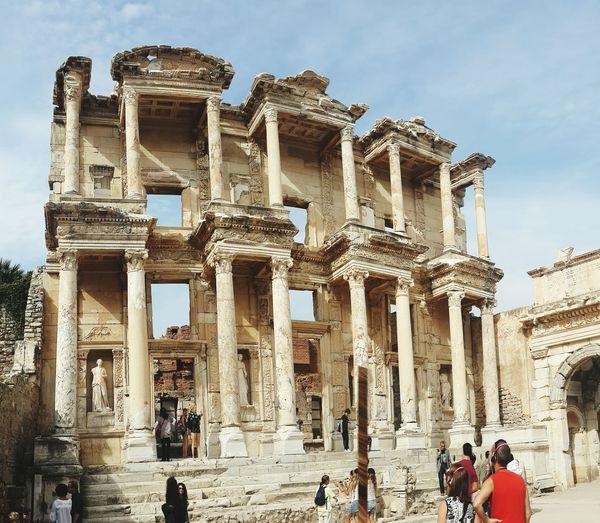 Efesus Efes Turkey Izmir Traveling Erasmus History Past Library Panoramic