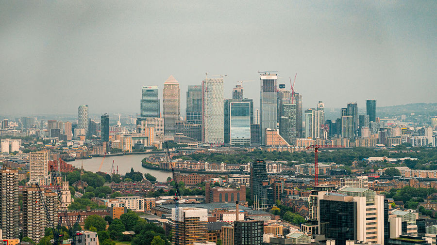 The financial district of london - canary wharf
