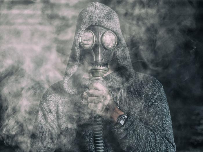 Adult Adults Only Art Day EyeEm Best Shots Eyemphotography Face Guard - Sport Gas Mask Gasmask Man Mask Outdoors People Potrait Protective Mask - Workwear Smoke