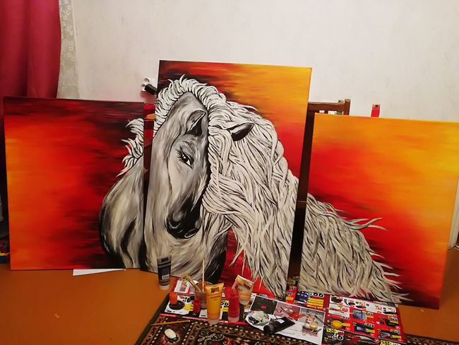 My Work My Design Animal Representation Animal Drawing ✏ ArtWork Horse Colorful Loving Life:)