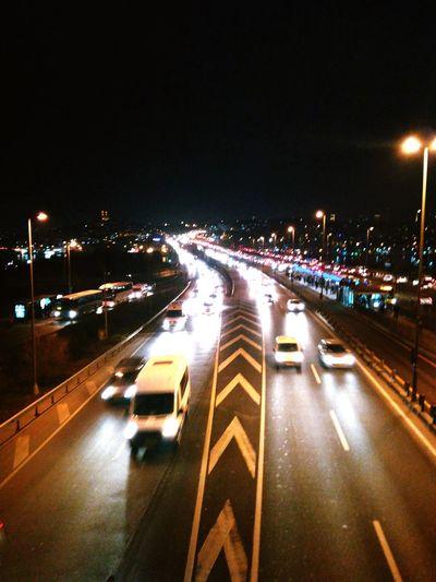 Night Cars Road Kaos Trafic Light