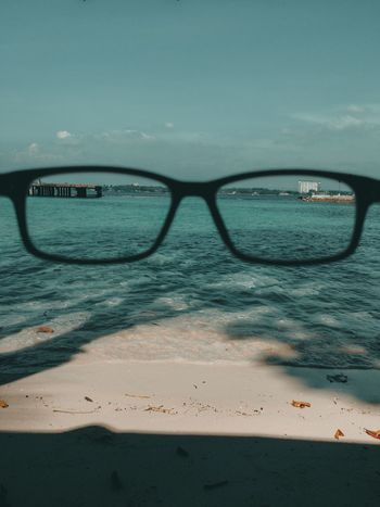 see through EyeEmNewHere Jlex95 Samal Island Davao City, Philippines Philippines Water Sea No People Eyeglasses  Eyesight Beach Cloud - Sky Nature Horizon Over Water Outdoors