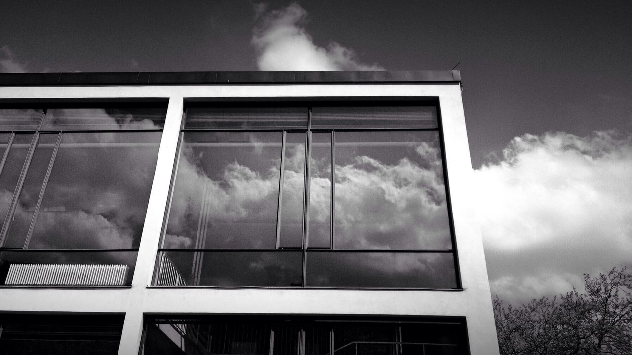 cloud - sky, sky, building exterior, window, architecture, no people, outdoors, tree, day