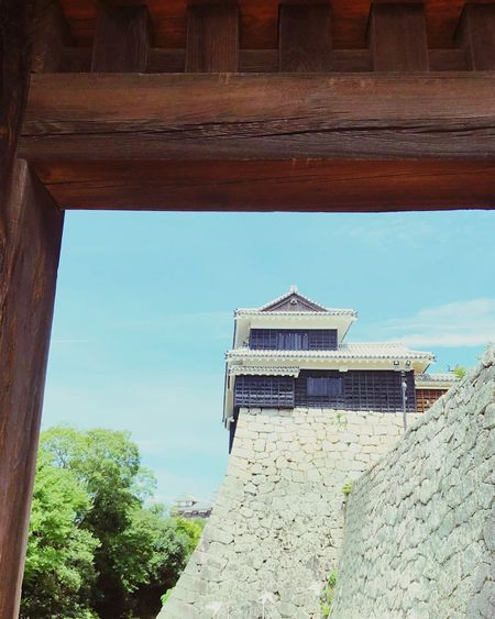 Architecture Built Structure Building Exterior Sky Day Building Nature Low Angle View No People Sunlight Outdoors Wall - Building Feature Blue Tower Old Wall