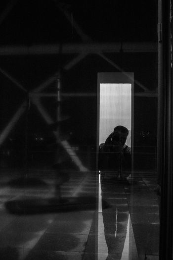 Self-portrait in a window at Pompidou Center Paris France Reflection Indoors  Real People One Person Close-up Self Portrait Around The World Selfie ✌ Self Portrait Blackandwhite Black And White Photography 3XSPUnity Urban Exploration Portrait Looking At Camera