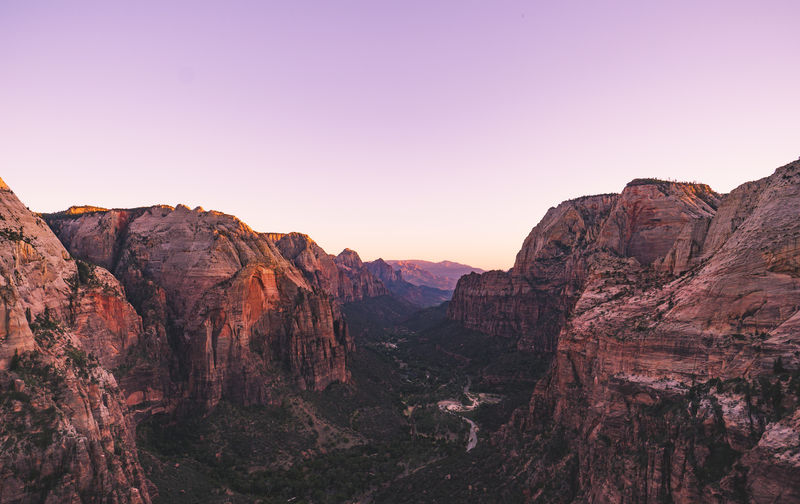 Adventure Angels Landing Beauty In Nature Canyon Landscape Mountain National Park Nature Outdoors Red Red Wine Scenics Sky Sunset Utah Zion