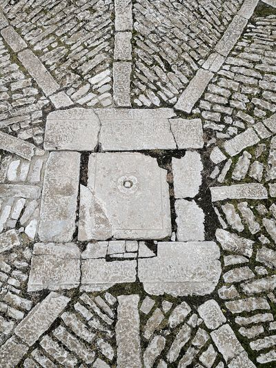 Caccamo castle courtyard floor Caccamo Courtyard  Backgrounds Full Frame Textured  Cracked Close-up Walkway Cobblestone Narrow Cobbled Ground Stone Tile Detail White Drawn Paved Lane Pathway Paving Stone