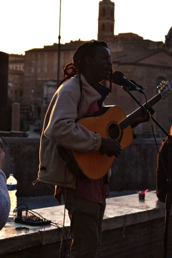 Portrait Turistic Places Travel Destinations Streetphotography Urban Exploration Street Photography Urbanphotography Rome Full Length Standing Bass Guitar Musical Instrument String Musical Instrument Blues Music Guitar Woodwind Instrument Guitarist Analogue Sound