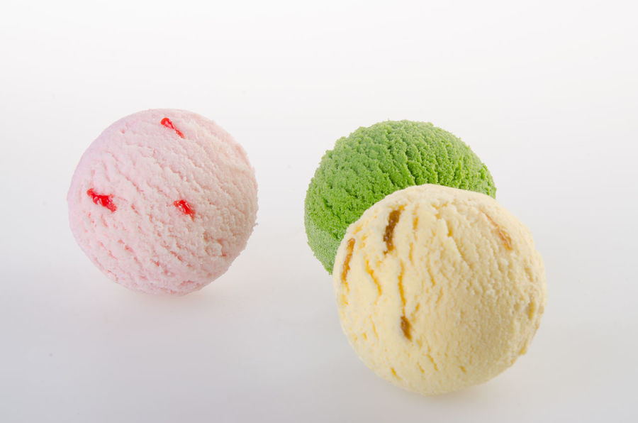 Ball Close-up Day Dessert Food Food And Drink Freshness Frozen Food Frozen Sweet Food Ice Cream Indulgence No People Ready-to-eat Scoop Shape Studio Shot Sweet Food White Background