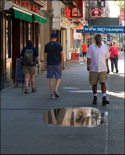14th St. Street Scene - 7/4/16 As I Sees It EyeEm Best Edits EyeEm Best Shots EyeEm StreetPhotography, NYC Fresh On Market July 2016 Opportunistic Street Photography, NYC Reflection In A Puddle
