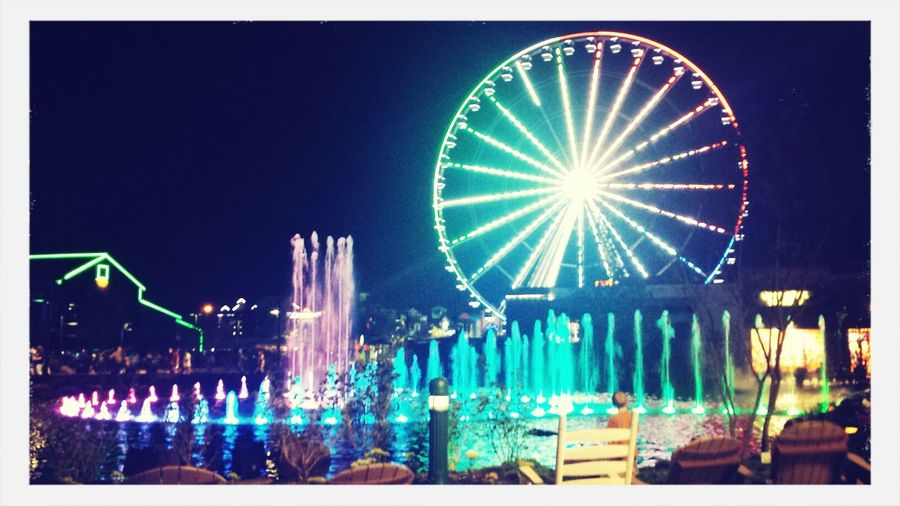 Enjoying Life Nightlights Faris Wheel Hello World