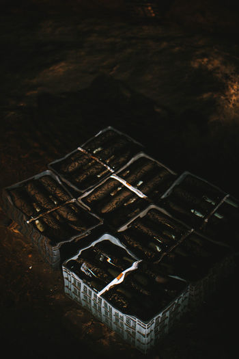 Architecture Box Cave Container Day Food Food And Drink Group High Angle View Metal Nature No People Obsolete Old Outdoors Run-down Rusty Still Life Wine Winemaking Wood - Material
