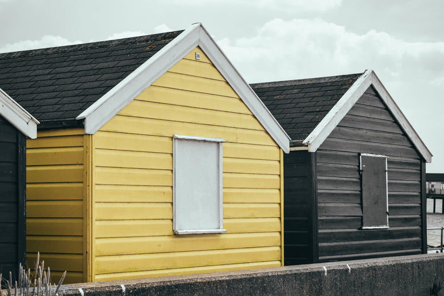 Apex Beach Photography Beach Houses  Beach Huts Built Structure Close Boarded Isolated Yellow No People Timber Cladding Timber Framed Paint The Town Yellow