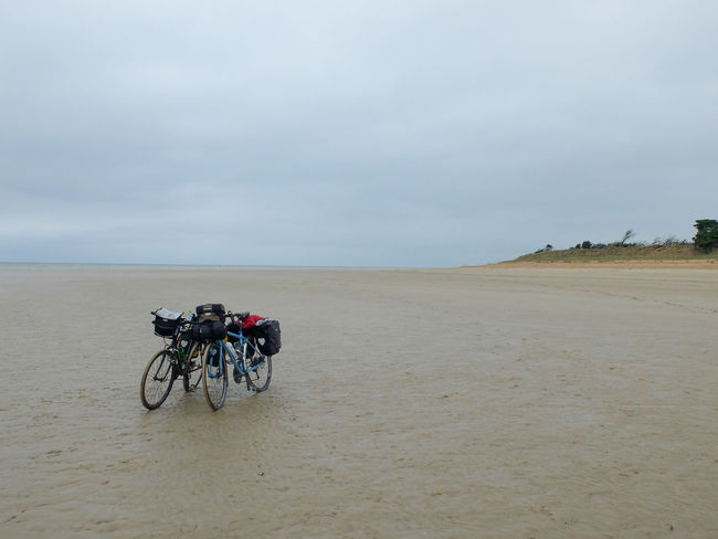 Beach Beauty In Nature Bike Touring Day Horizon Over Water Landscape Nature No People Outdoors Sand Sand Dune Scenics Sea Sky Tranquil Scene Tranquility Velodyssee