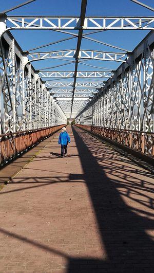 Real People Sunlight Bridge Iron Bridge Architecture Outdoors Nature