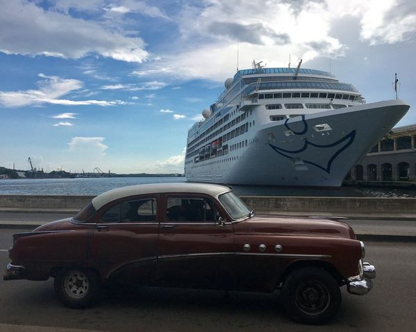 Old Havana Old Car! Old Time Mode Of Transport Transportation Cruise Ship Cruisers Harbor Sky And Clouds Old Cars ❤ The Street Photographer - 2017 EyeEm Awards
