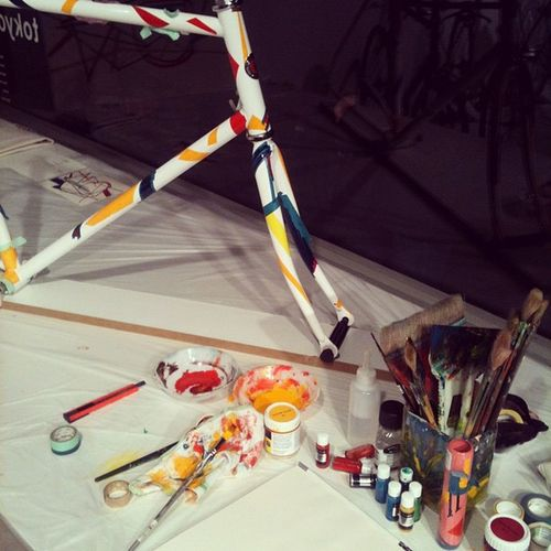 Art meets bicycle