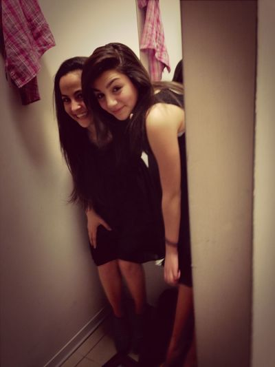 Trying On Dresses With The Best Friend