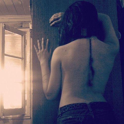 Me encanta esta foto :) Foto Espalda Plumitas Sexy <3