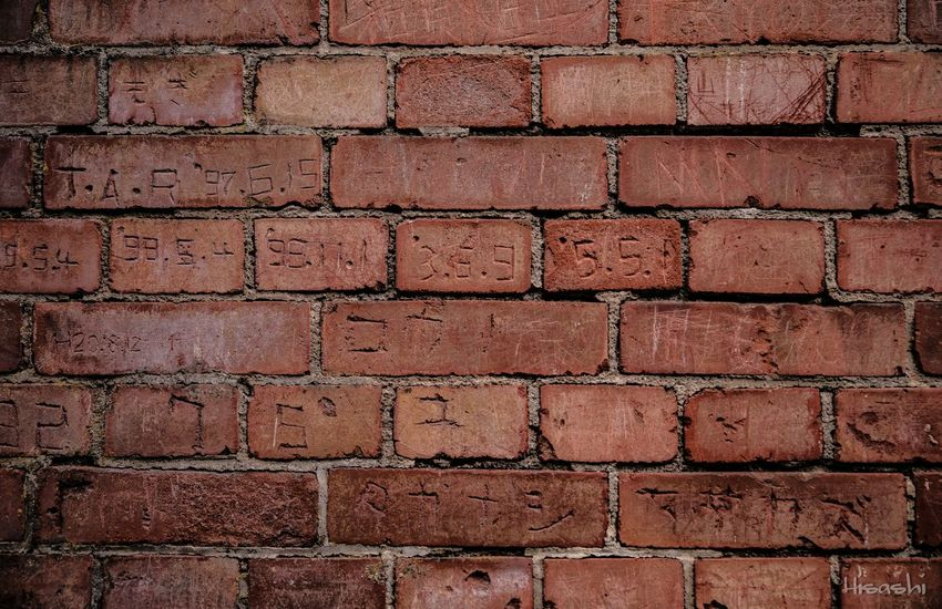 Backgrounds Full Frame Brick Wall Textured  Red Pattern Close-up No People Outdoors Architecture Day