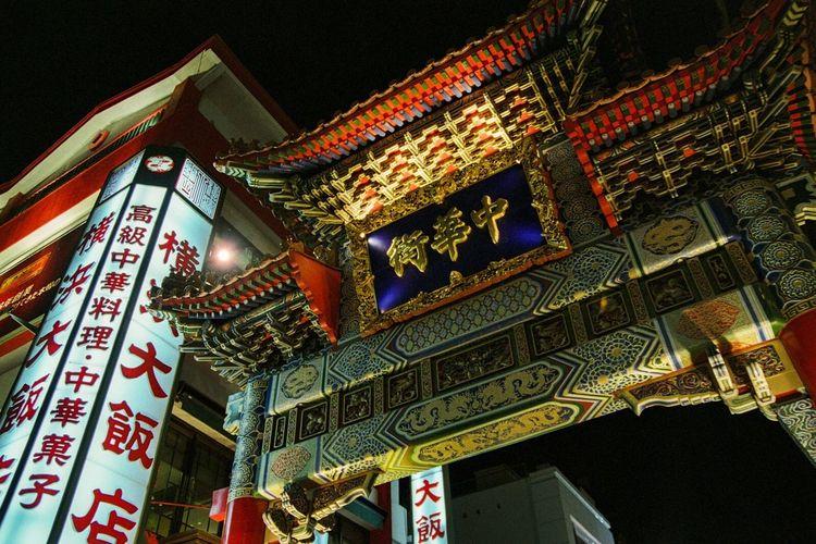 横浜中華街 Yokohama Chinatown Night Yokohama Chinatown Pentax Japan 中華街 Film Nightphotography PENTAX FILM CAMERA Night View